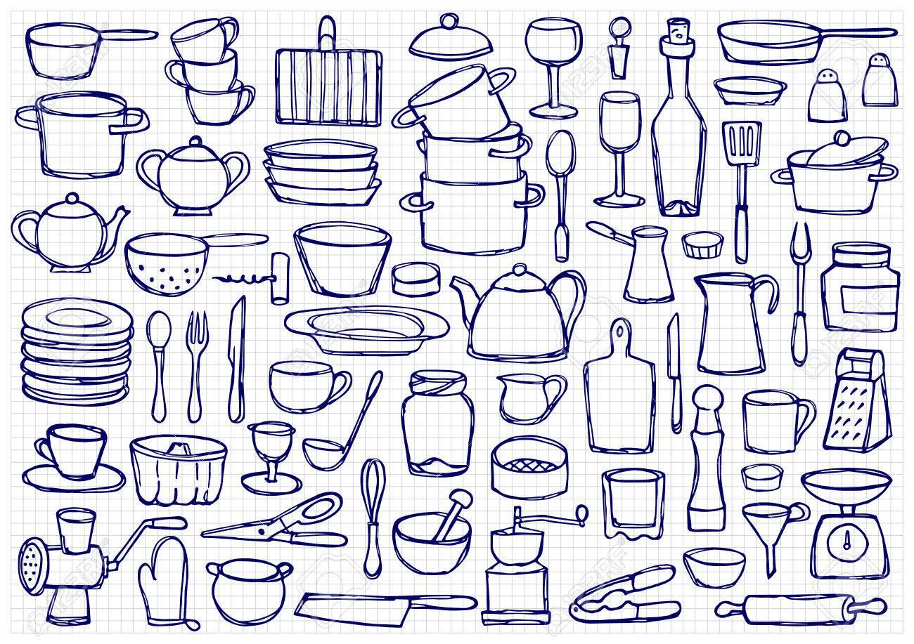 Dibujos Para Colorear De Utensilios De Cocina Web Del