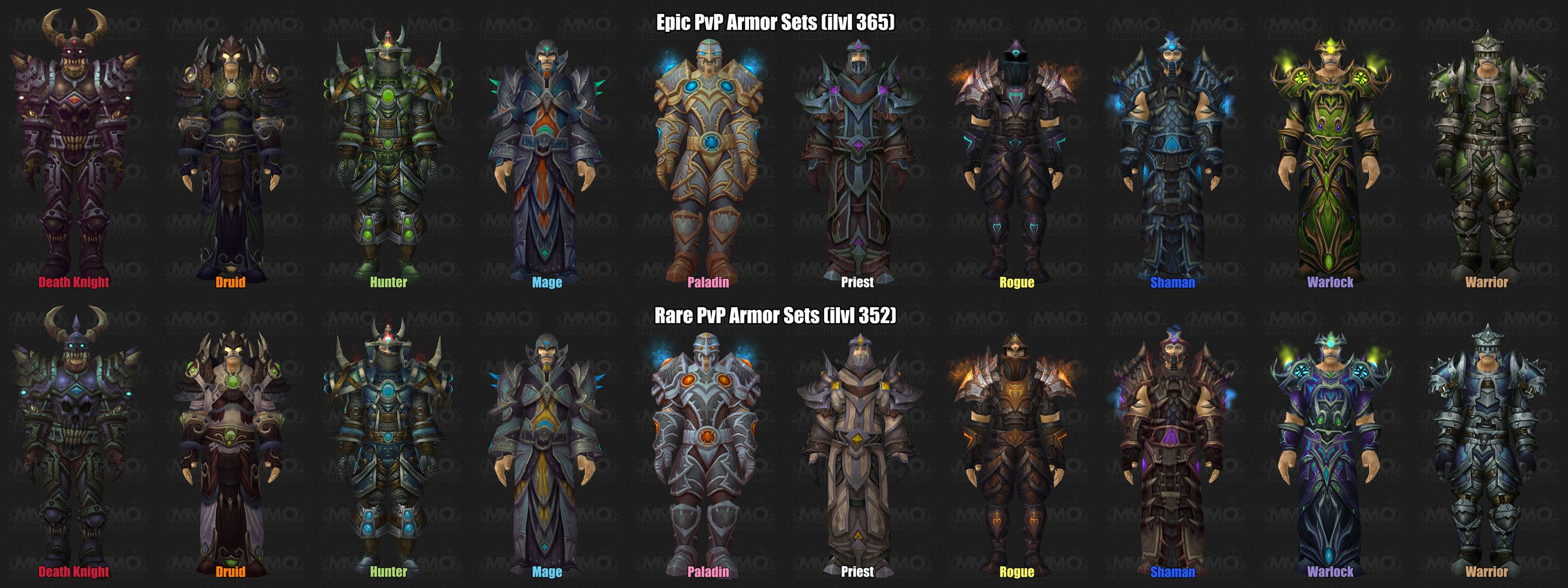 wow arena gear