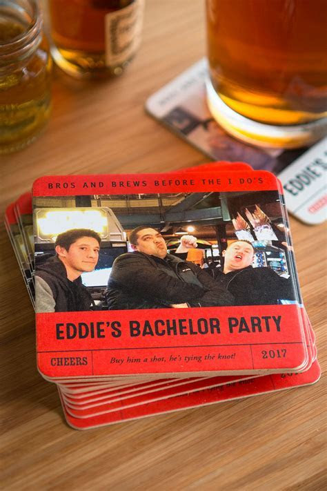 Custom Bachelor Party Coasters   Wedding Inspiration