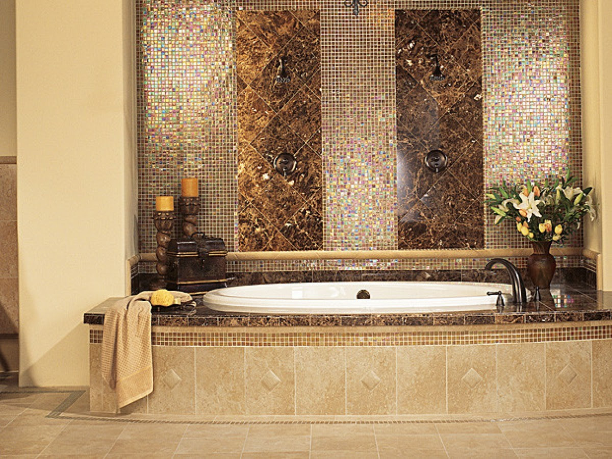 30 beautiful ideas and pictures decorative bathroom tile ...