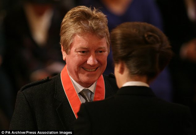 Honour: Mr Ogston is pictured being invested with the CBE by Princess Anne in 2011