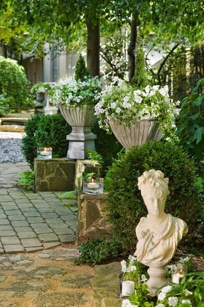 Old garden dreams formality elegance symmetry - Using stone in rustic gardens elegance and drama ...