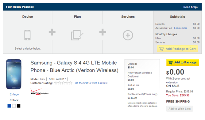 Best Buy Offering Galaxy S4 On AT&T, Sprint, And Verizon For Free With Two-Year Contract Until November 30th