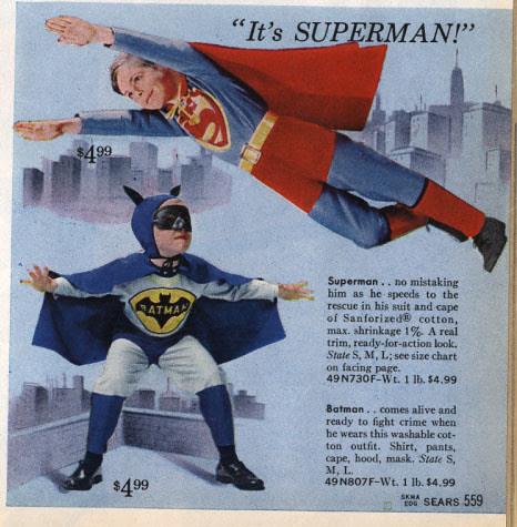 disfraz de batman y superman