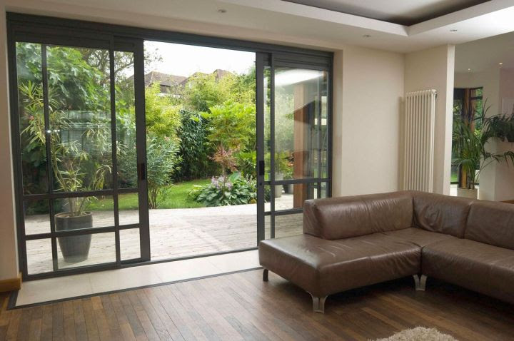 glass sliding door designs for living room  | 800 x 546