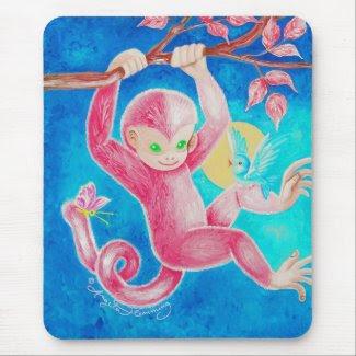The Happy Little Monkey mousepad