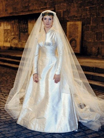 Maria's wedding dress, Designed by Dorothy Jeakins for