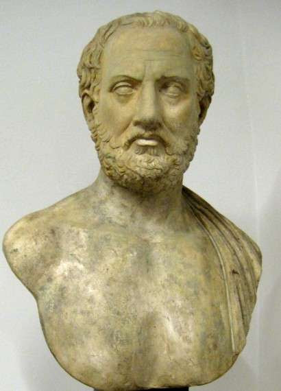 Thucydides; cast of a renowned bust at Holkham Hall (Pushkin Museum)