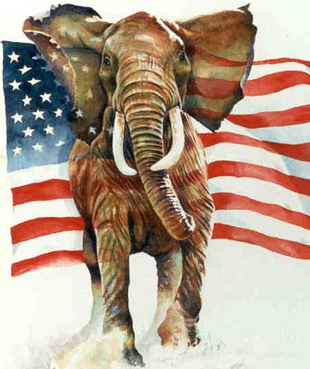 "republican elephant 2 ""I'll be there [to vote Republican] or I'll be dead"""