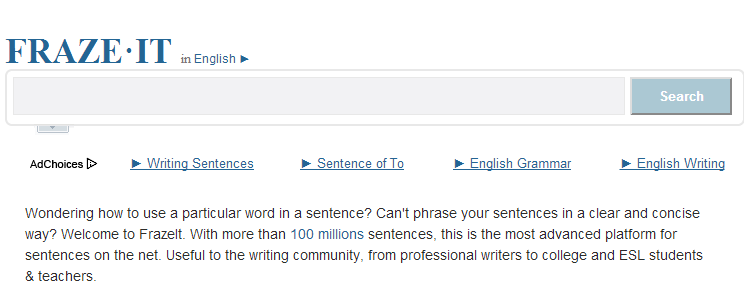 language resource to improve your writing skills Fraze it