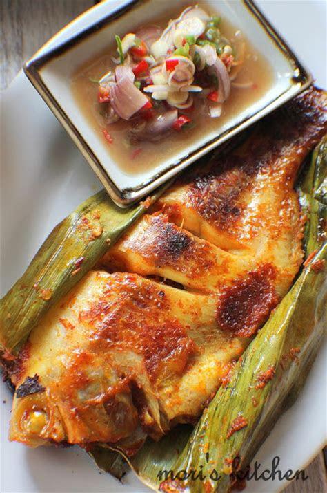 moris kitchen ikan tilapia bakar  kerabu daun salom