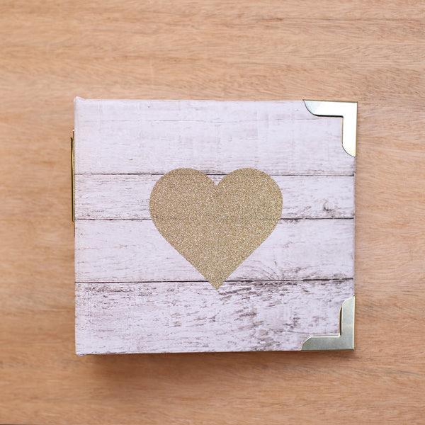 Glitter Heart 4x4 Scrapbook Album Project Life Becky Higgins