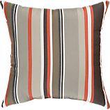 """Sunbrella® Valencia Stripe 20"""" Sq. Outdoor Pillow"""