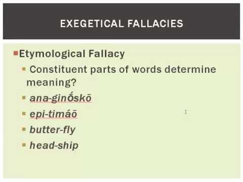 Word-Study Fallacies by Robert Cara - Ligonier Ministries