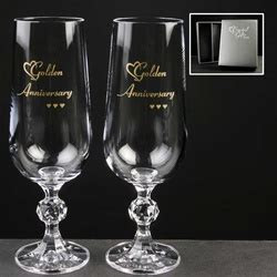 50th (Gold) Wedding Anniversary Gift   Glass Engravers