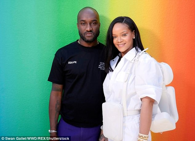 Man of the hour: It's the first Men¿s Spring-Summer 2019 Fashion Show arranged by Louis Vuitton¿s new men¿s artistic director Virgil Abloh (pictured)