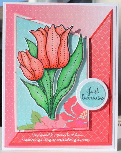 Our Daily Bread Designs, Tulips, Tulip die, designed by Beverly Bolen