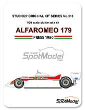 Kit 1/20 Studio27 - Alfa Romeo 179 - Nº 35 -  Bruno Giacomelli - Gran Premio de Italia 1979 - kit Multimedia