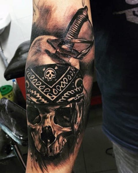 mens pirates tattoo