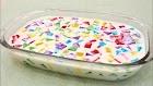 Receita - Gelatina colorida com mousse de leite ninho - fácil- rápida- mega gostosona - isamara amâncio