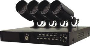 DVR Recording Kit with  4 Cameras