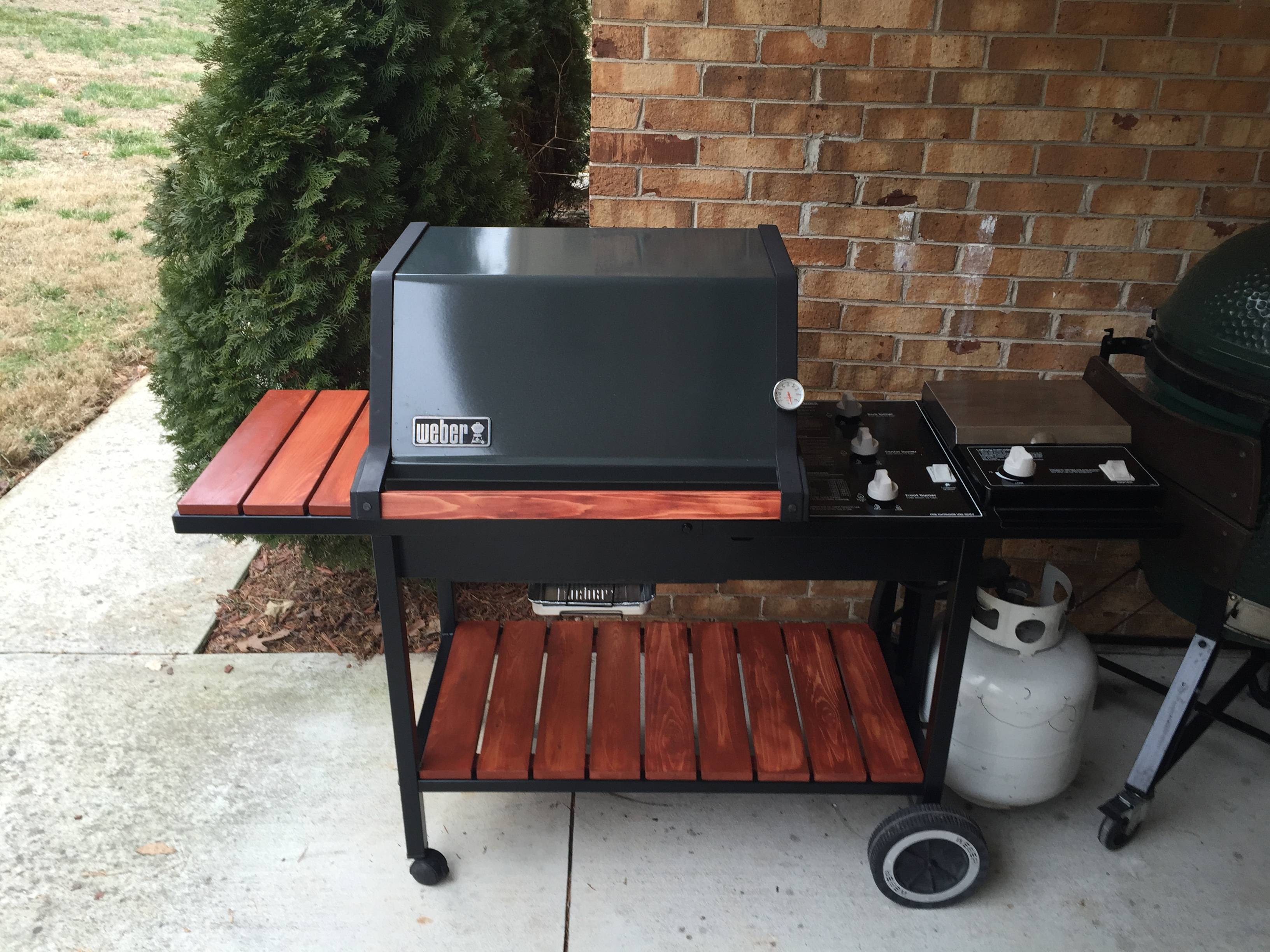 Bought a Weber Silver B and converted it to a Genesis 5000 with wood