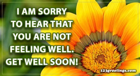 I'm Sorry To Hear  Free Get Well Soon Messages. eCards
