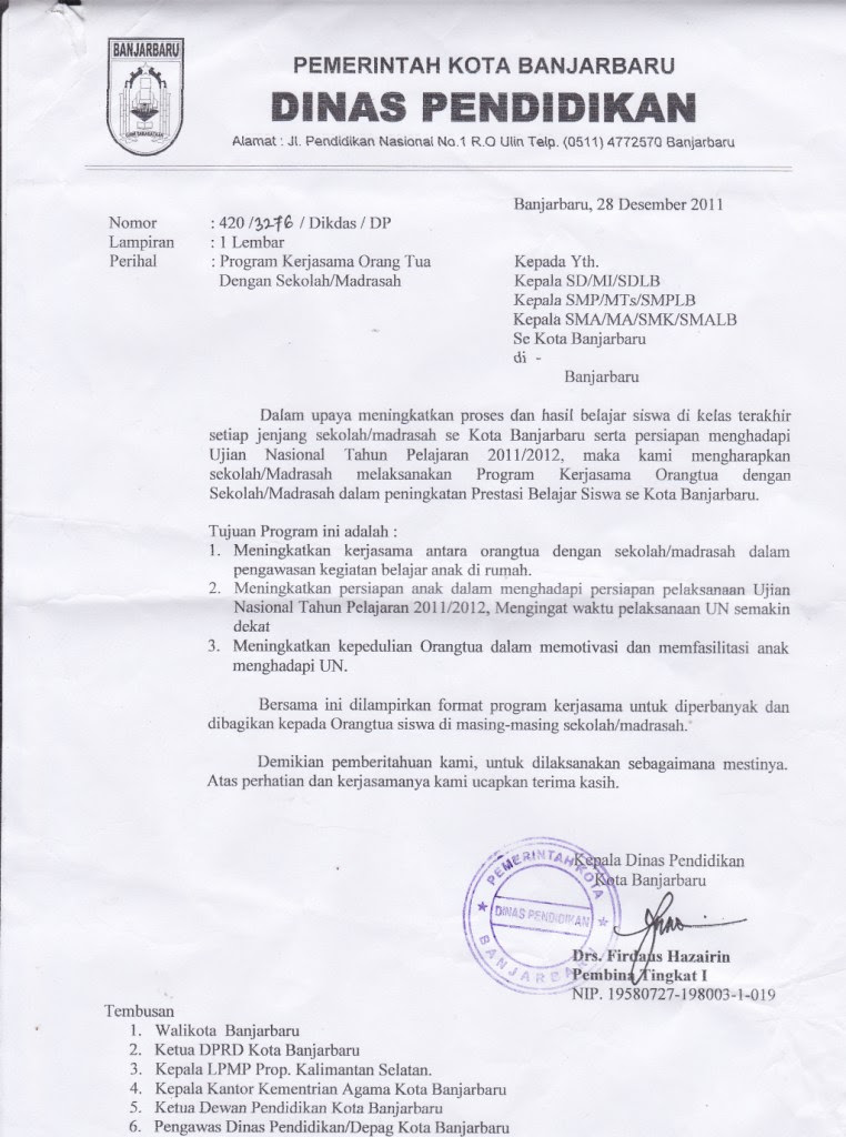 Contoh Surat Undangan Dinas Untuk Wali Murid - Contoh Isi ...