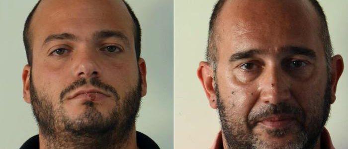 Nella combo Marco Bondoni (s), 30 anni, e Martino Paniconi, 44 anni, arrestati per gli attentati incendiari a cinque chiese di Fermo tra il 9 gennaio e il 22 maggio 2016. Fermo, 20 luglio 2016. ANSA/ US CARABINIERI +++ NO SALES - EDITORIAL USE ONLY +++