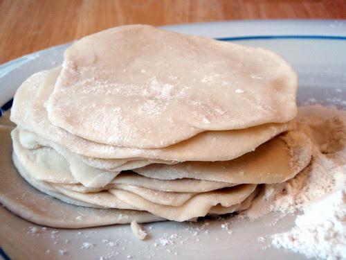 Homemade dumpling skins