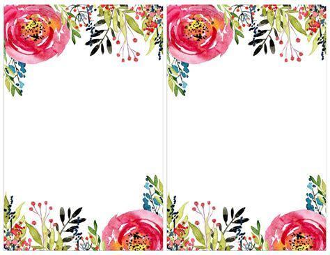 Floral Invitation Template {free printable   #