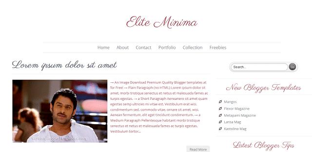 Elite Minima - Free Premium Blogger Template
