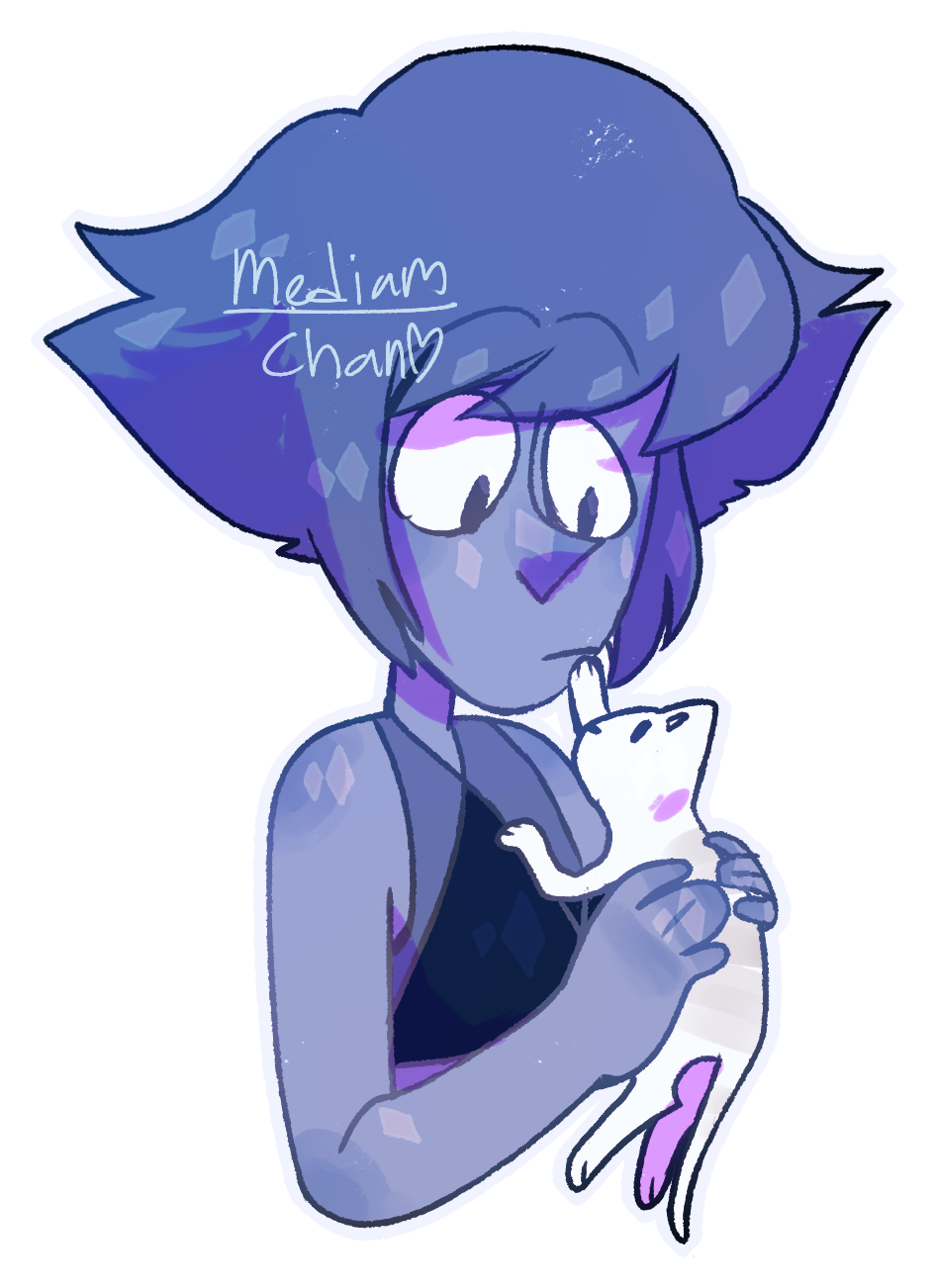 My internet was being wacky af yesterday so here's a Lapis from my boredom and sadness
