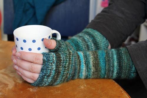 Handspun wristwarmers