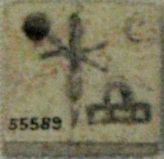Ficha con el nombre de Neith-Hotep, Naqada, circa 3100 a.C. (Museo Británico).