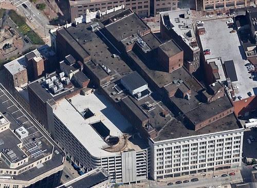 May Company Cleveland Aerial