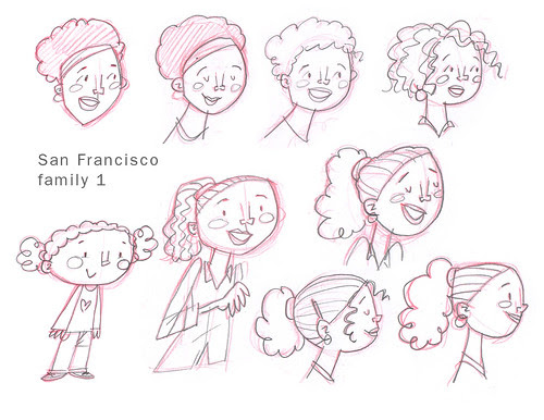 SF Family sketches 1