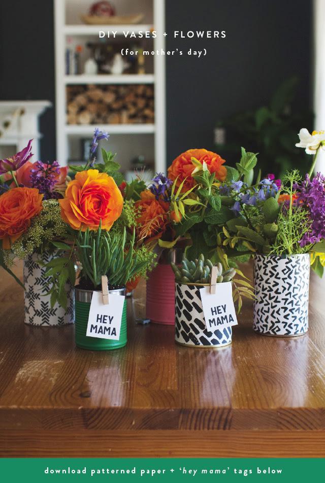 Diy Mothers Day Flower Arrangements Vases Freebies Rae Ann Kelly