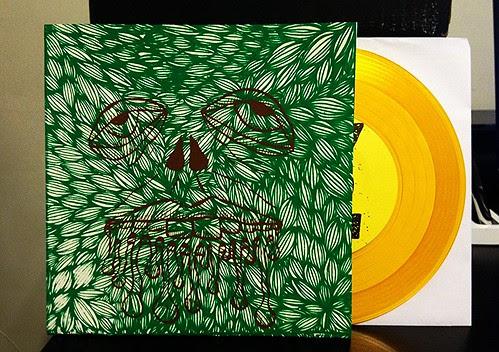 "Heavy Times - No Plans 7"" - Gold Vinyl, Alt Cover (/200) by Tim PopKid"