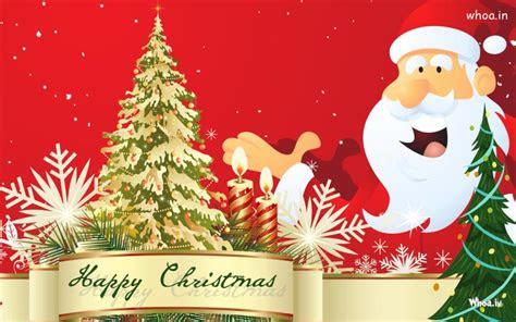 happy merry christmas greeting cards  santa