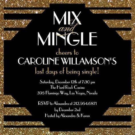 Mix and Mingle   Signature White Bachelorette Party