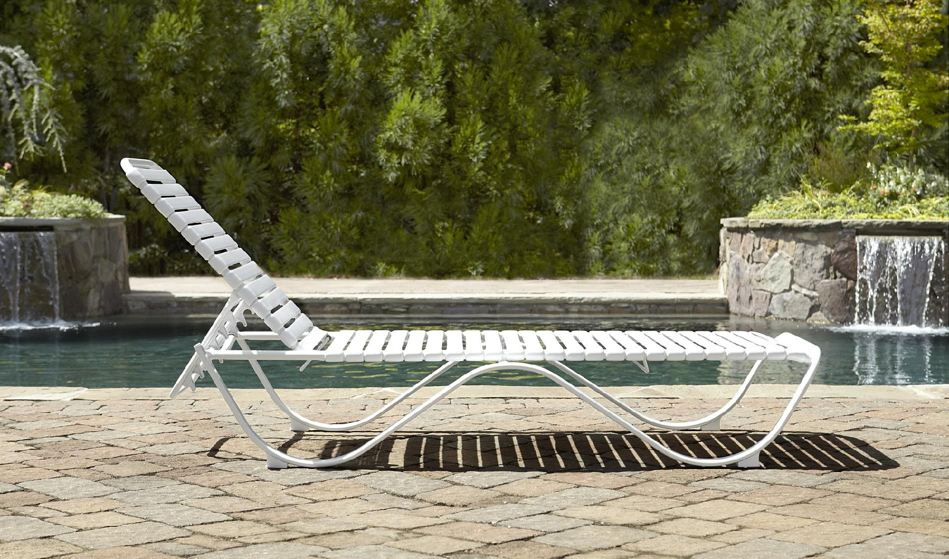 Aluminum Strap Chaise Lounge Chairs
