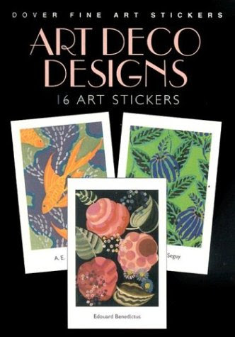 Art Deco Designs 16 Art Stickers Dover Fine Art Stickers