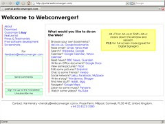 Webconverger booted