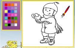 Kayu Ve Kış Boyama Oyunu Oyna Kayu Oyunları