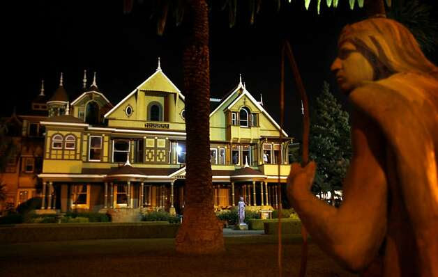 There are many mysteries surrounding San Jose's Winchester Mystery House. Switchback staircases descending seven steps before rising eleven, many windows with 13 panes, and secret passageways. Another, does the eccentric woman who built the home over a century ago, Mrs. Sarah Winchester, still roam its halls?  Photo: Lance Iversen, The Chronicle / SF