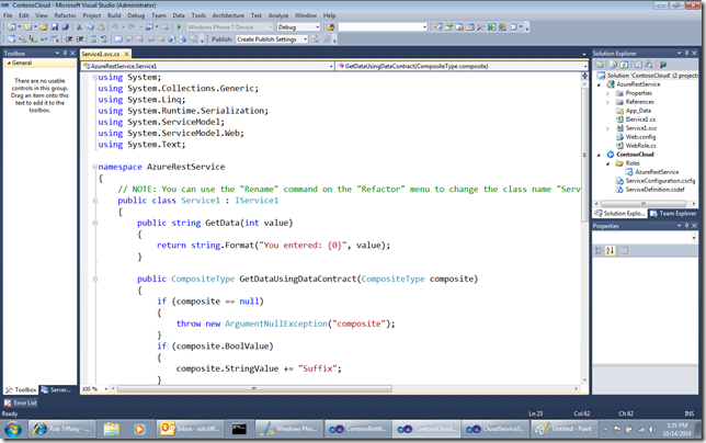 Azure3 thumb Windows Phone 7 Line of Business App Dev :: Moving your WCF REST + JSON Service to Windows Azure