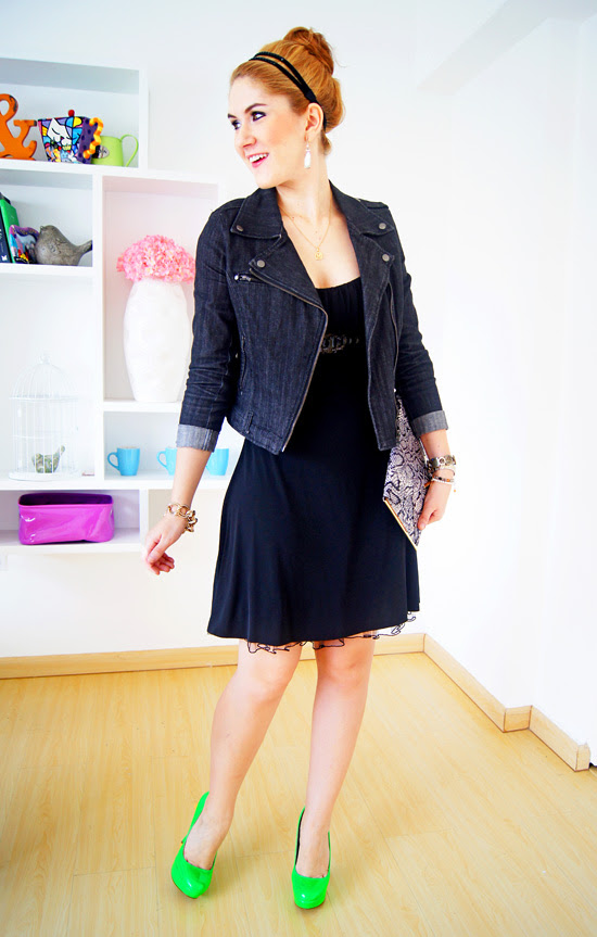 Black and Neon Outfit