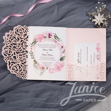 Wholesale Laser Cut Wedding Invites