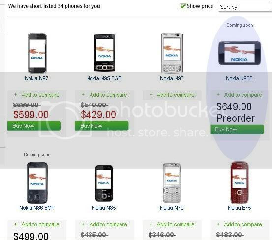Nokia N900 giá 649 USD